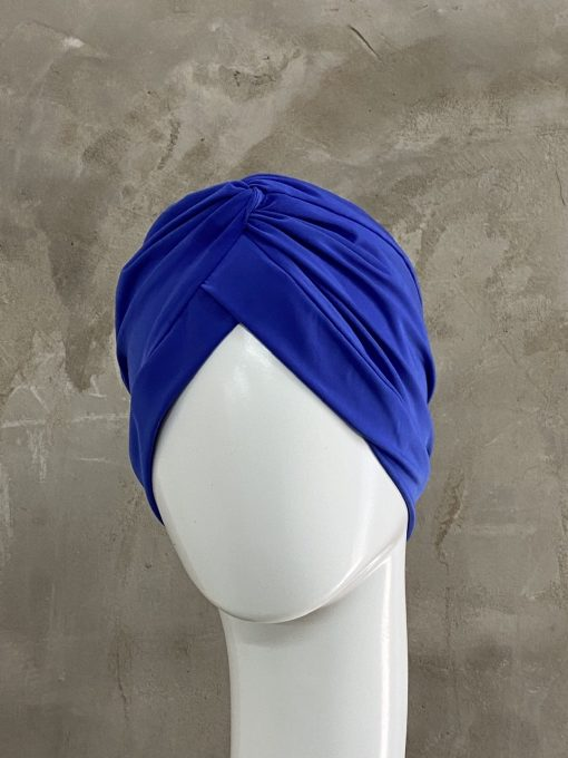 Royal Blue Knotted Turban