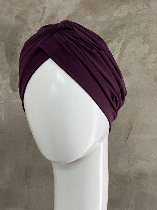 Plum Knotted Turban