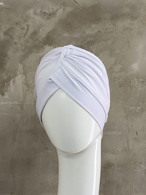 White Knotted Turban