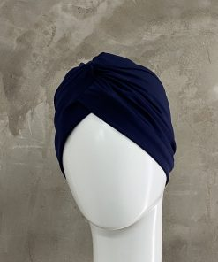 Navy Knotted Turban