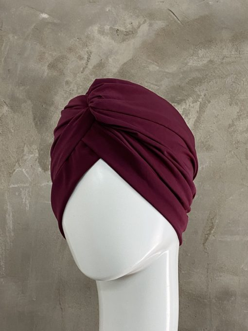 Maroon Knotted Turban