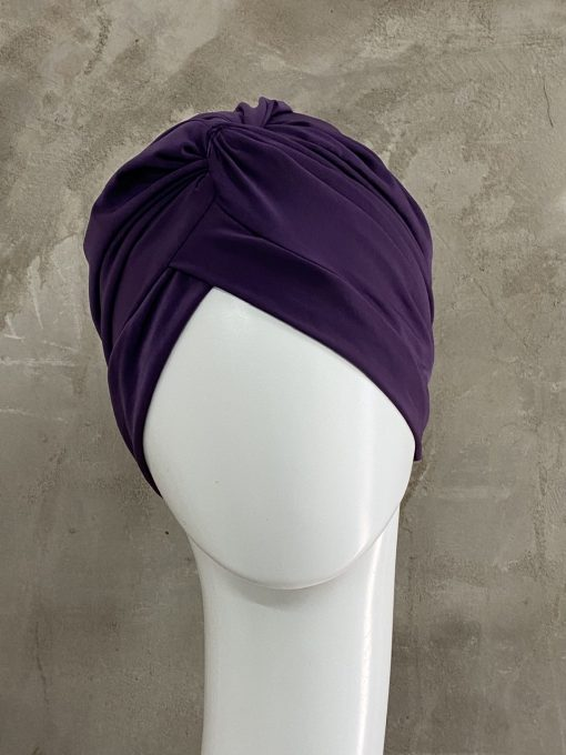 Purple Knotted Turban
