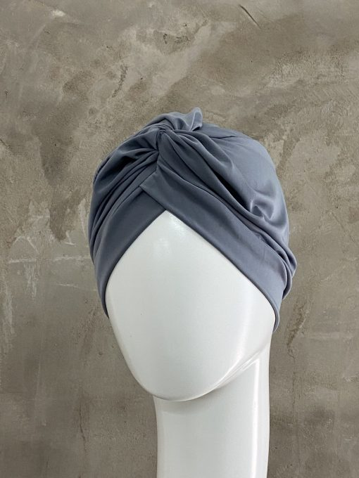 Charcoal Grey Knotted Turban